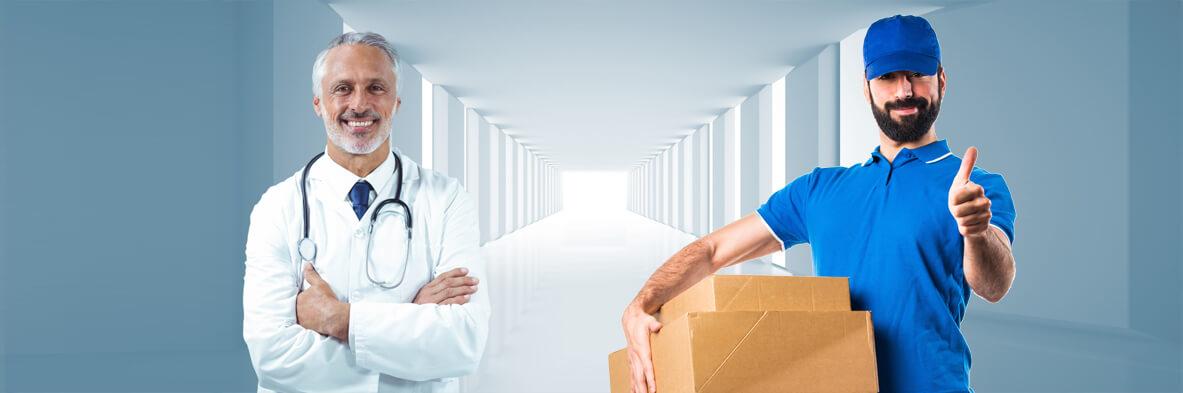 Coursier pour hôpitaux